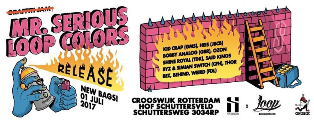 Wallspot Post - Mr. Serious & Loop Colors present the graffiti jam at Schuttersveld