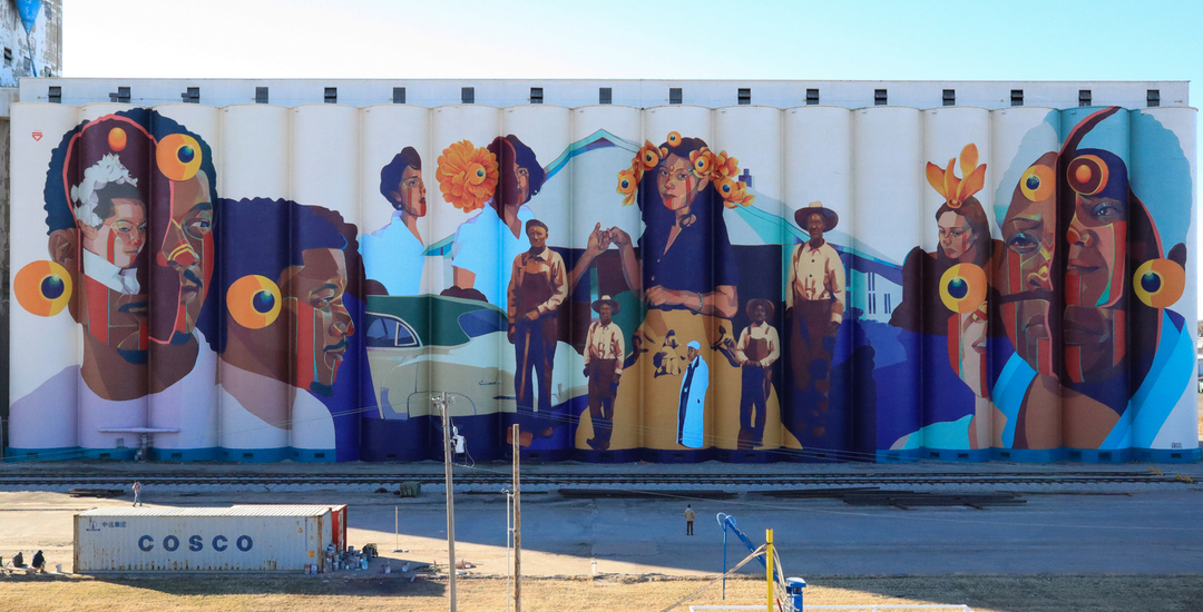 Wallspot Post - GLEO - The grain elevator mural