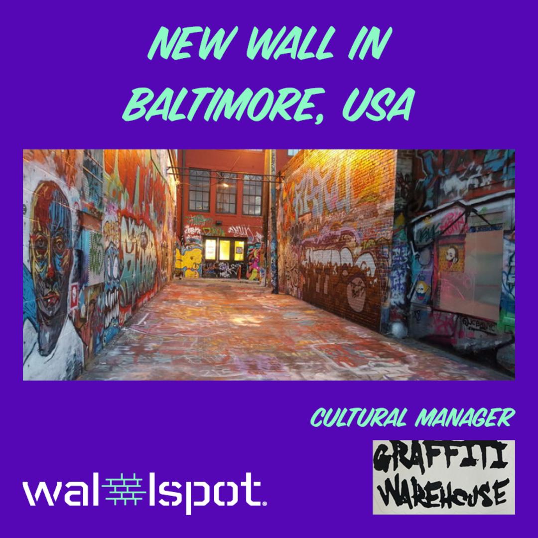 Wallspot Post - GRAFFITI ALLEY - BALTIMORE (USA)