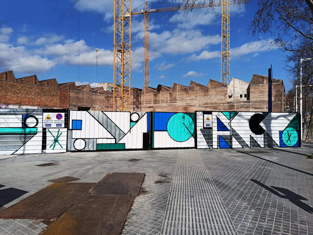"Wallspot Post - WALL LAB: Artistic intervention by Spogo, ""Old factory: La Siberia"" in Avinguda Icaria 199 (Poblenou Barcelona)."