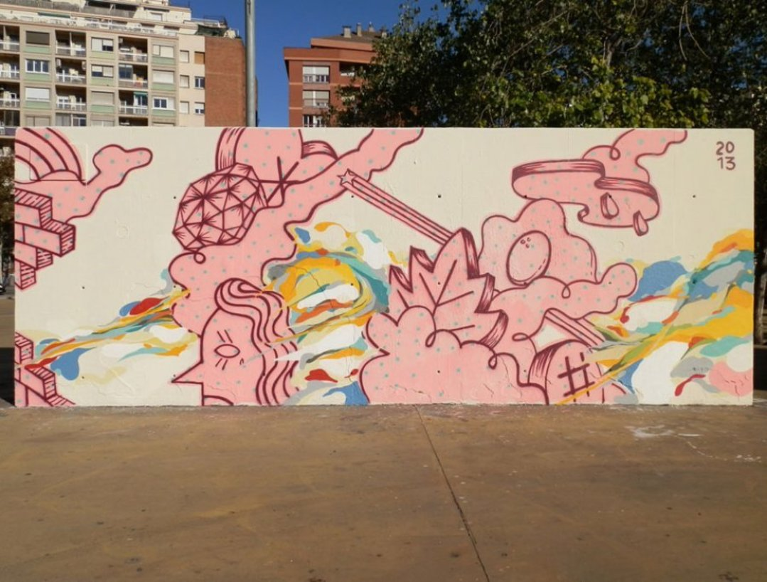Wallspot - Spogo - Tres Xemeneies - Spogo & Joachim Castañeda - Barcelona - Tres Xemeneies - Graffity - Legal Walls -