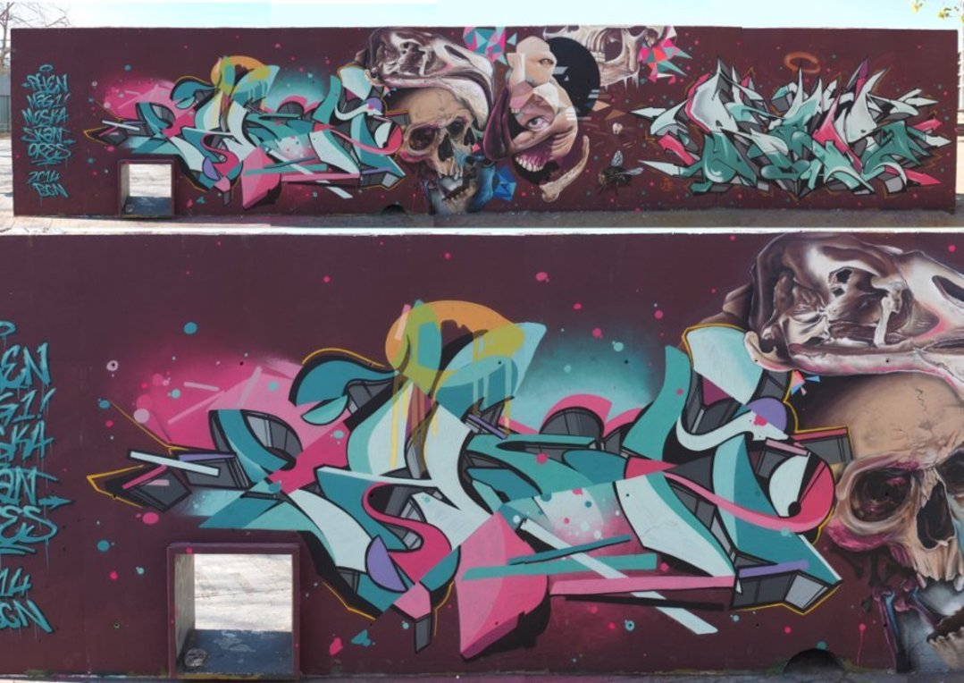 Wallspot - Stefano Phen -  - Barcelona - Glòries Wall - Graffity - Legal Walls -