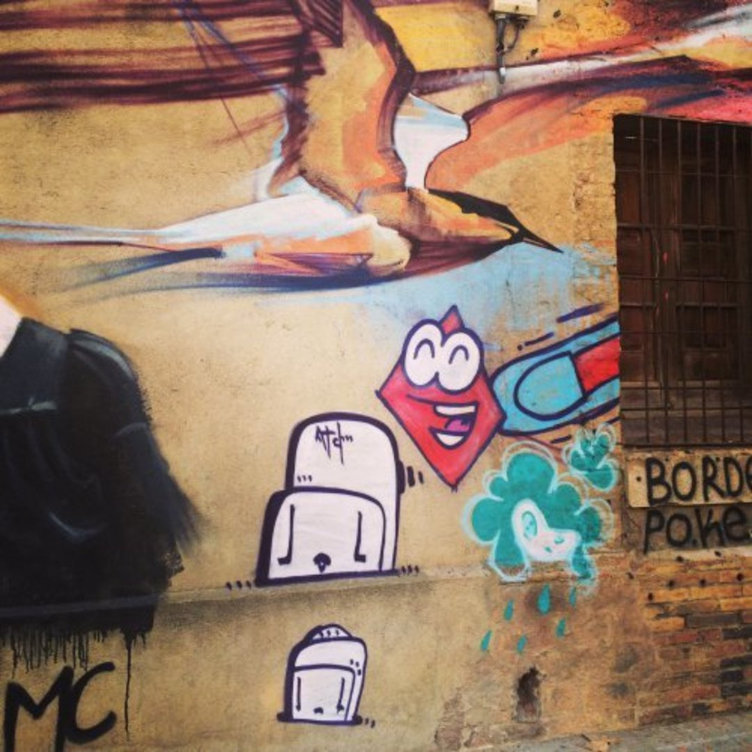Wallspot - dhemart -  - Barcelona - Glòries Wall - Graffity - Legal Walls -