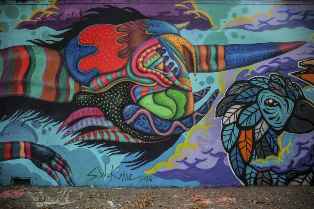 Wallspot - S.Waknine -  - Barcelona - Selva de Mar - Graffity - Legal Walls - Illustration