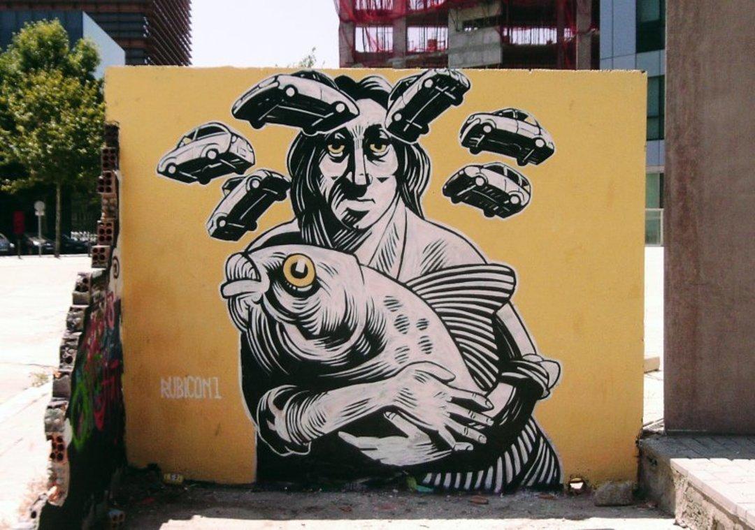 Wallspot - Rubicon1 -  - Barcelona - Glòries Wall - Graffity - Legal Walls - Illustration