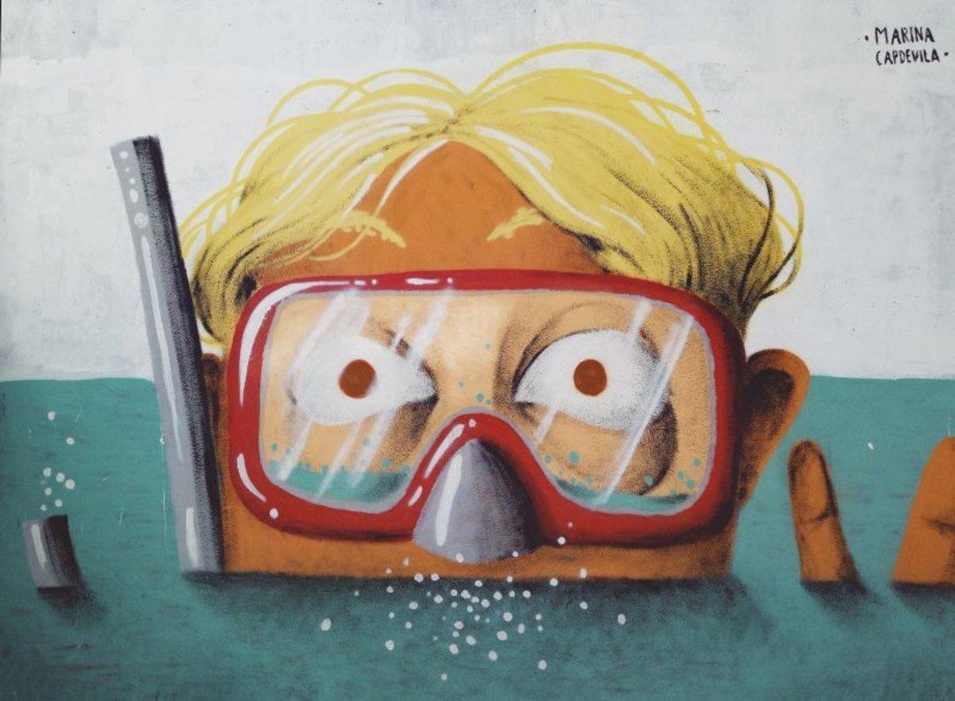 Wallspot - Marina Capdevila -  - Barcelona - Glòries Wall - Graffity - Legal Walls - Illustration