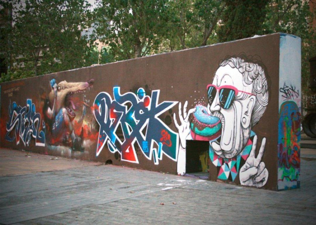 Wallspot - Marina Capdevila -  - Barcelona - Tres Xemeneies - Graffity - Legal Walls - Il·lustració