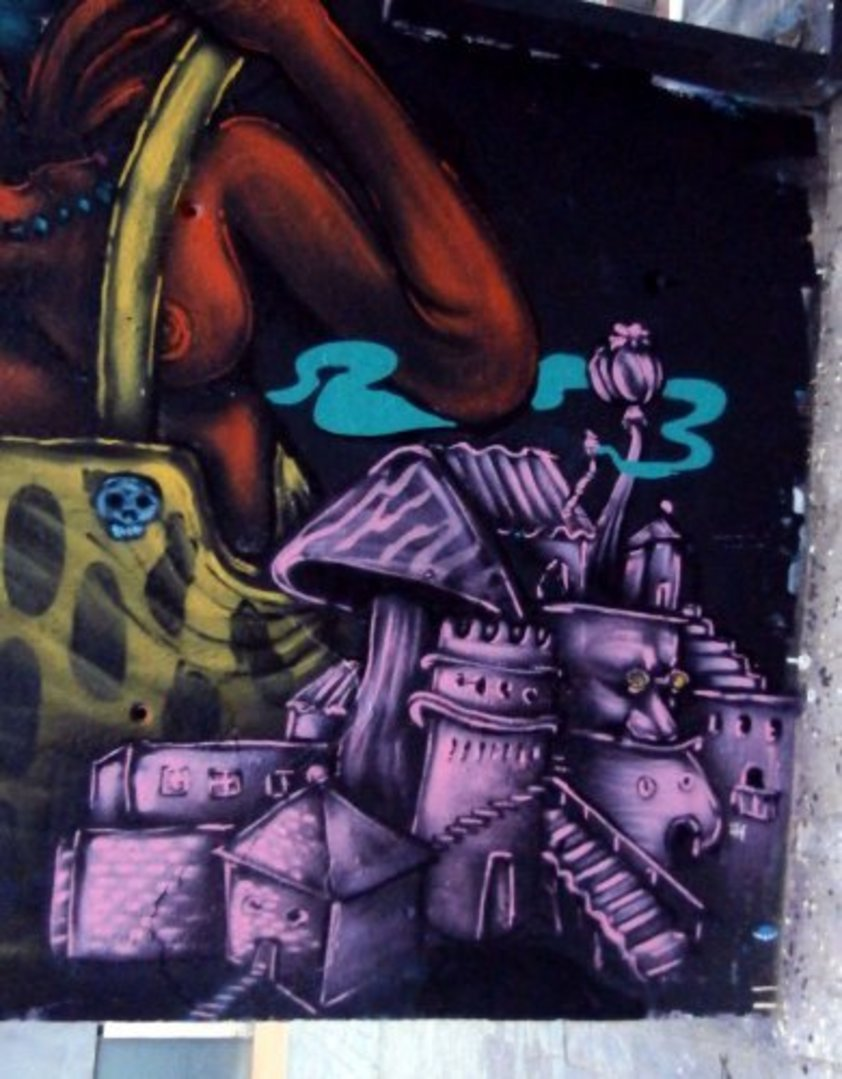 Wallspot - El Rughi -  - Barcelona - Tres Xemeneies - Graffity - Legal Walls - Illustration
