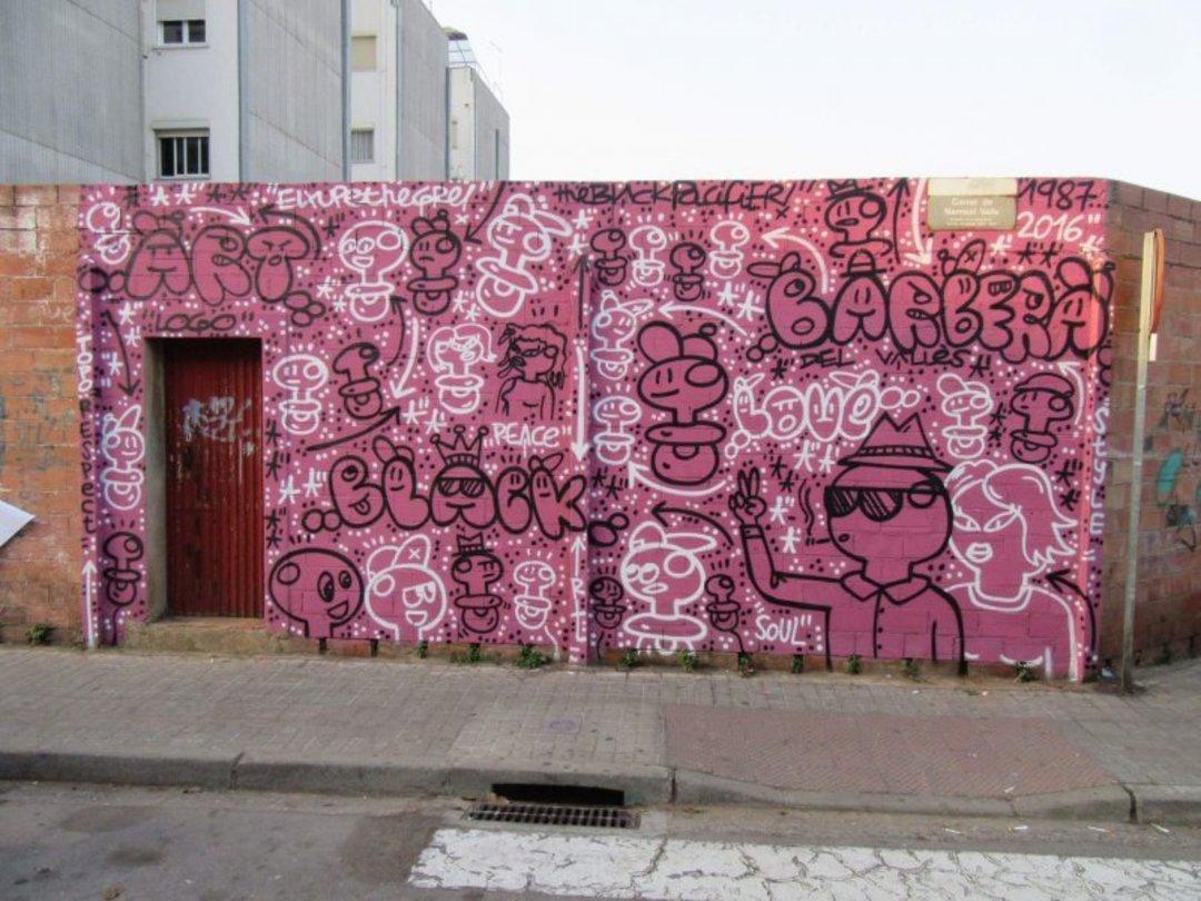 Wallspot - xupet -  - Barberà del Vallès - Maria Reverter / Nemesi Valls - Graffity - Legal Walls - Il·lustració, Altres