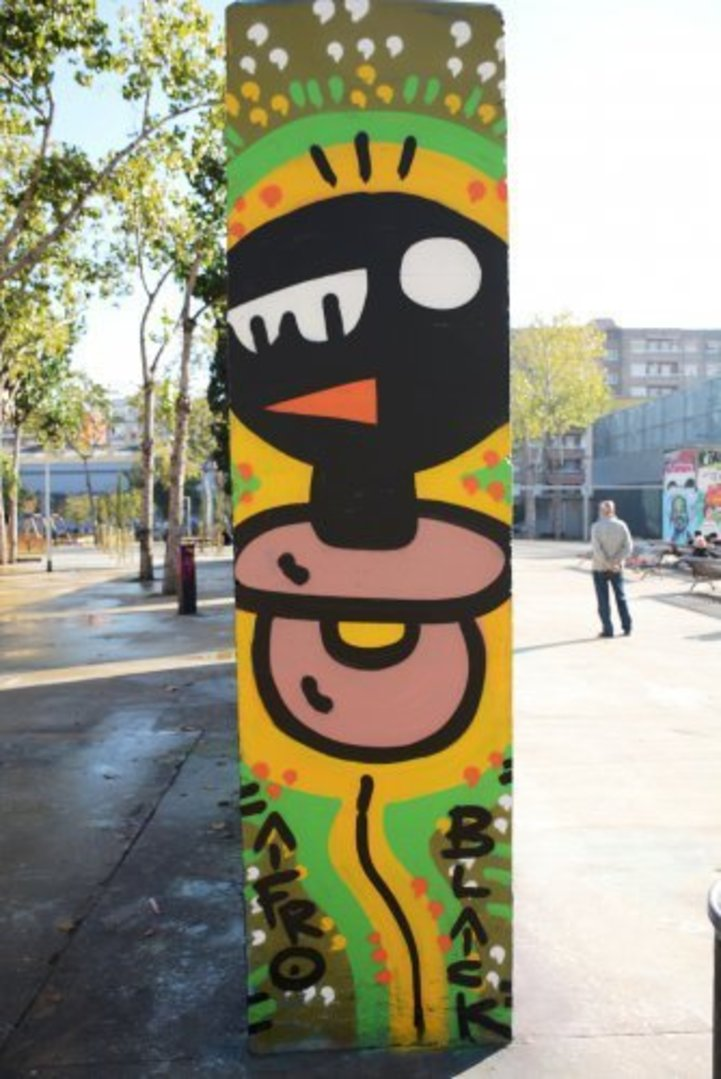 Wallspot - xupet -  - Barcelona - Tres Xemeneies - Graffity - Legal Walls - Il·lustració