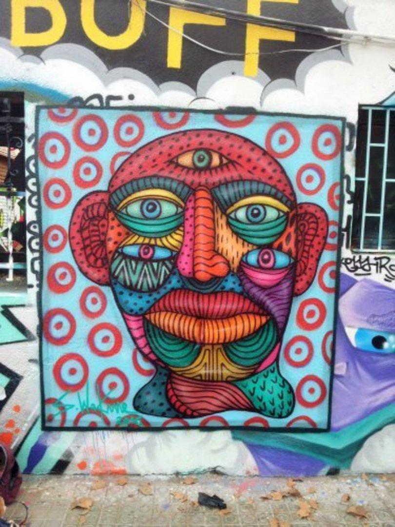 Wallspot - S.Waknine -  - Barcelona - Western Town - Graffity - Legal Walls - Illustration