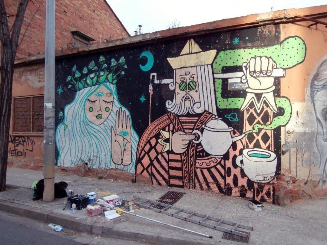 Wallspot - El Rughi -  - Barberà del Vallès - Carretera Barcelona - Graffity - Legal Walls - Il·lustració