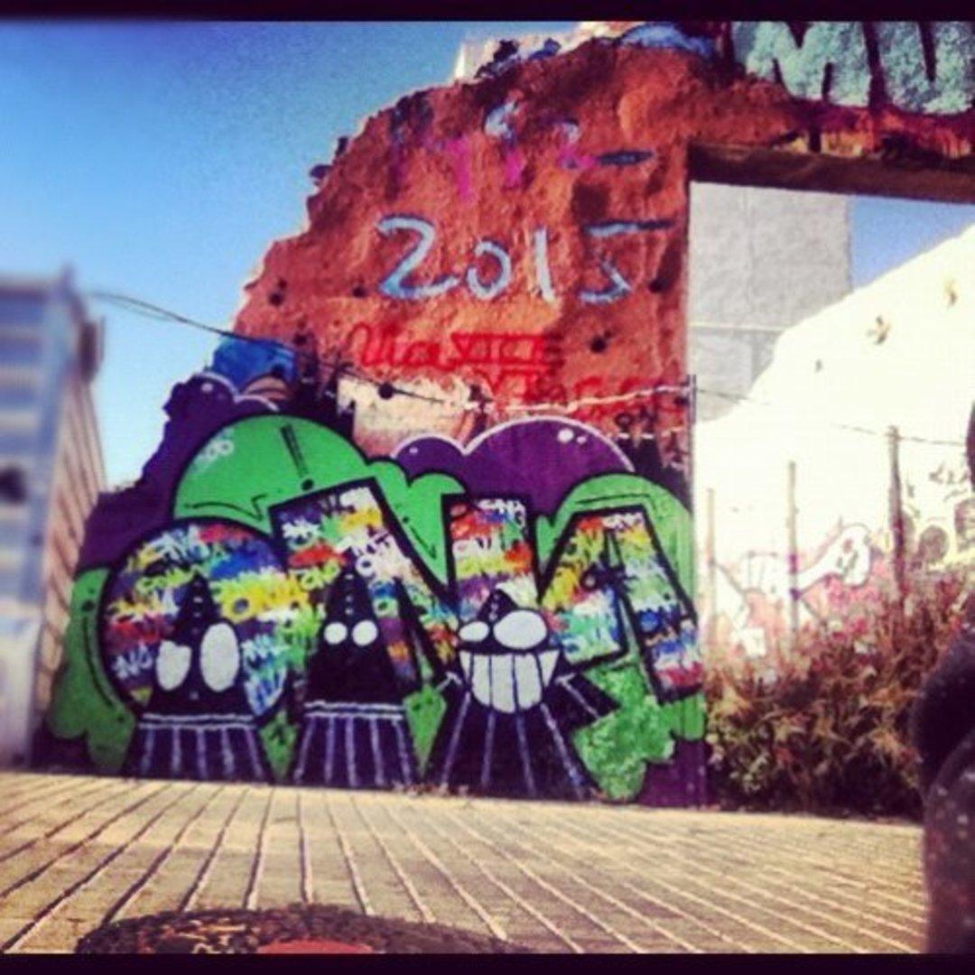 Wallspot - ONA -  - Barcelona - Western Town - Graffity - Legal Walls - Lletres, Il·lustració, Altres