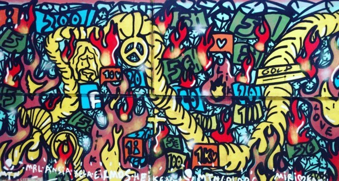 Wallspot - kamil escruela - on fire world - Barcelona - Selva de Mar - Graffity - Legal Walls - Letters, Illustration, Stencil, Others