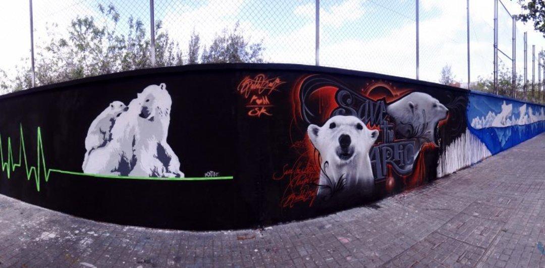 Wallspot - LaCastillo - LATIDOS DEL ÁRTICO - Barcelona - Agricultura - Graffity - Legal Walls - Illustration, Stencil