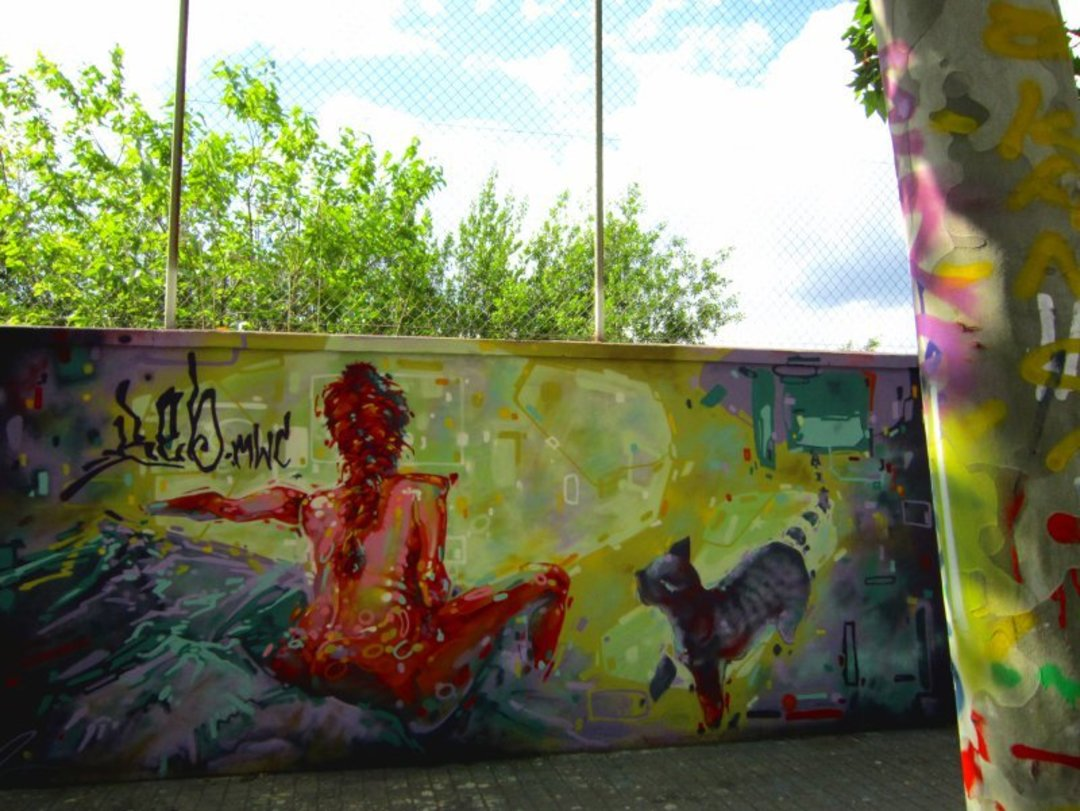 Wallspot - reb.mwc -  - Barcelona - Tres Xemeneies - Graffity - Legal Walls - Illustration, Others