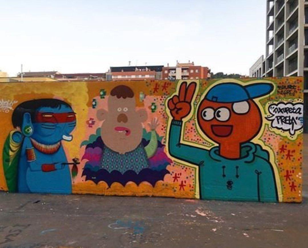 Wallspot - xupet -  - Barcelona - Tres Xemeneies - Graffity - Legal Walls - Illustration