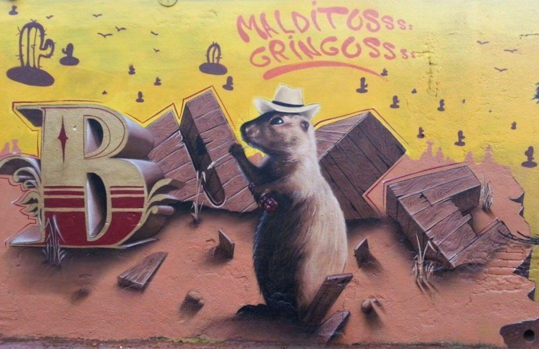 Wallspot - Bublegum -  - Barcelona - Selva de Mar - Graffity - Legal Walls - Lletres, Il·lustració