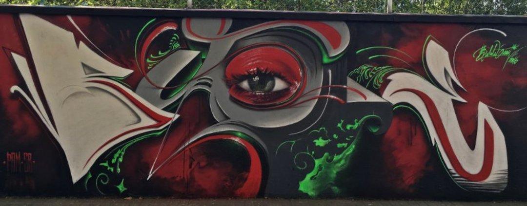 Wallspot - Bublegum -  - Barcelona - Agricultura - Graffity - Legal Walls - Lletres, Il·lustració