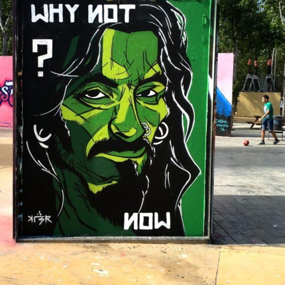 Wallspot - KLER -  - Barcelona - Tres Xemeneies - Graffity - Legal Walls - Lletres, Il·lustració, Stencil