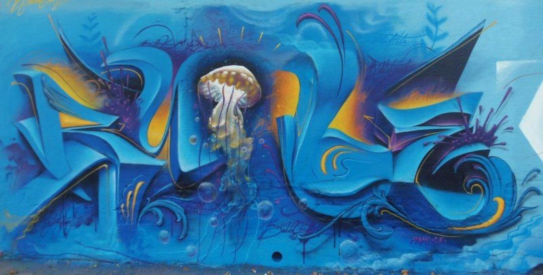 Wallspot - Bublegum -  - Barcelona - Selva de Mar - Graffity - Legal Walls - Lletres