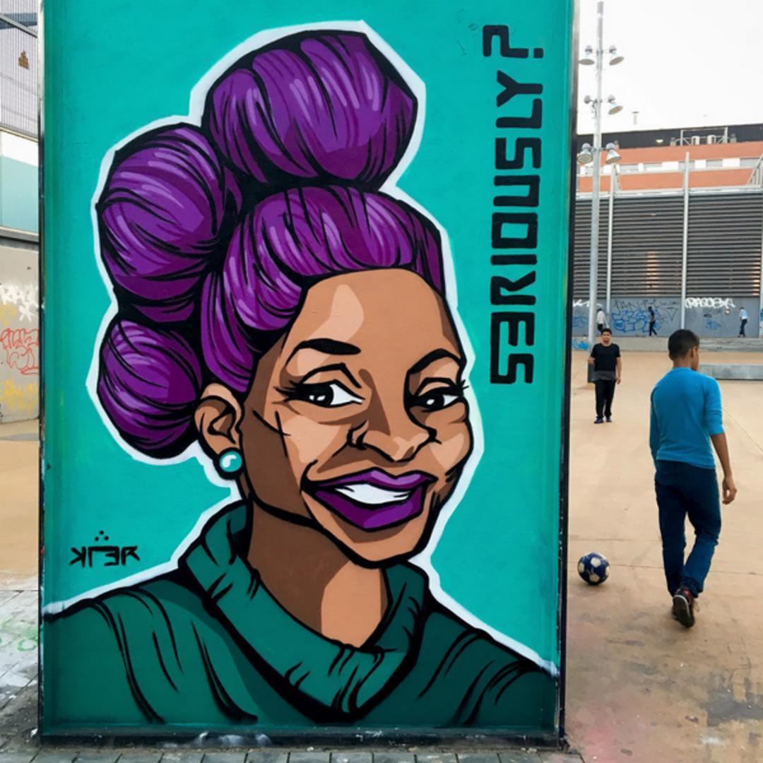 Wallspot - KLER - Tres Xemeneies - KLER - Barcelona - Tres Xemeneies - Graffity - Legal Walls - Lletres, Il·lustració