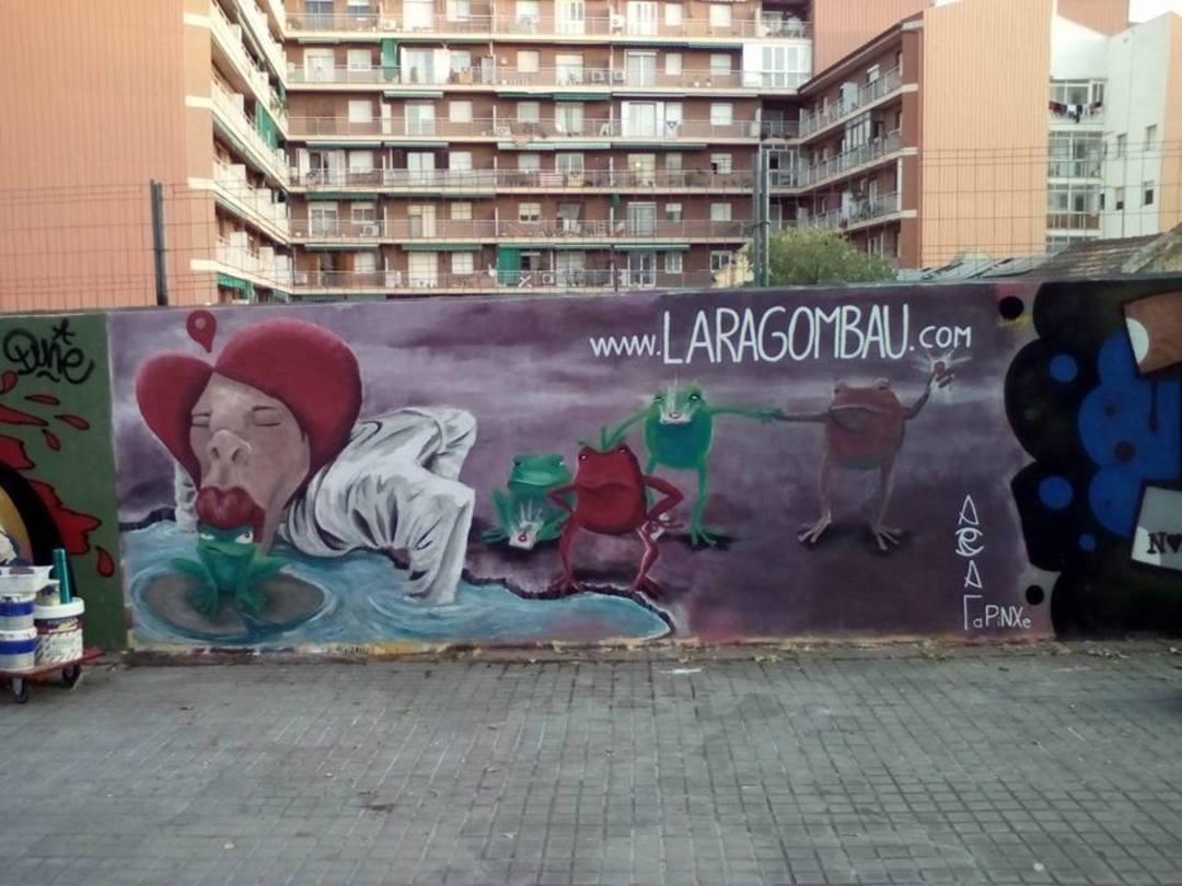 Wallspot - araL - - araL - Barcelona - Tres Xemeneies - Graffity - Legal Walls - Il·lustració