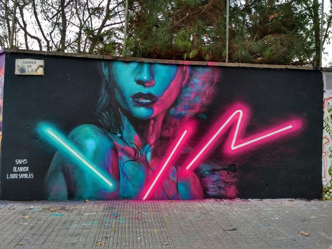 Wallspot - evalop - Lauro Samblas,  Cristian Blancher, y Sav45 - Barcelona - Agricultura - Graffity - Legal Walls - Il·lustració - Artist - savf