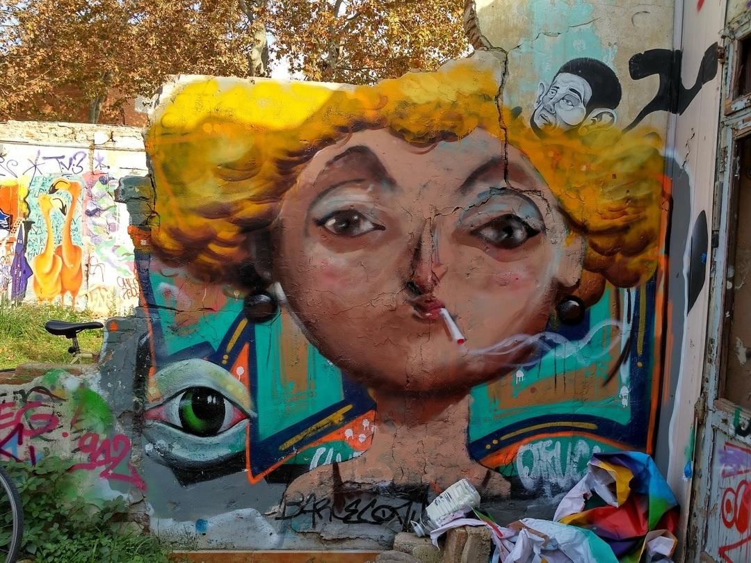 Wallspot - evalop - Interior Can Ricart - Barcelona - Western Town - Graffity - Legal Walls -  - Artist - elmanu