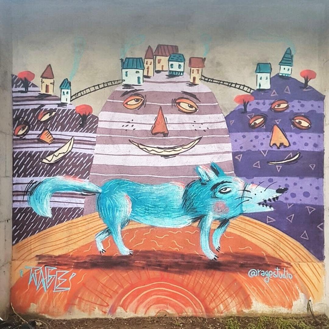Wallspot - Ragestudio -  - Barcelona - UE Sant Andreu - Graffity - Legal Walls -
