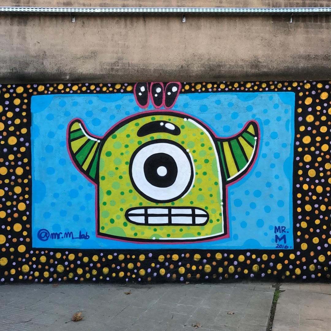 Wallspot - Mr.M - UE Sant Andreu - Mr.M - Barcelona - UE Sant Andreu - Graffity - Legal Walls - Il·lustració