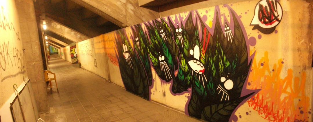 Wallspot - ONA - UE Sant Andreu - ONA - Barcelona - UE Sant Andreu - Graffity - Legal Walls - Letras, Ilustración