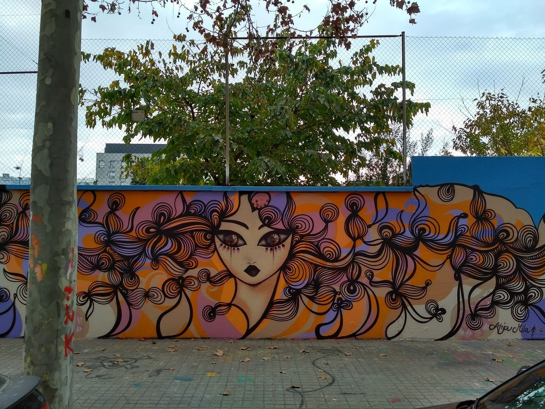 Wallspot - evalop - Anja Mila - Barcelona - Agricultura - Graffity - Legal Walls - Illustration - Artist - Anja Mila