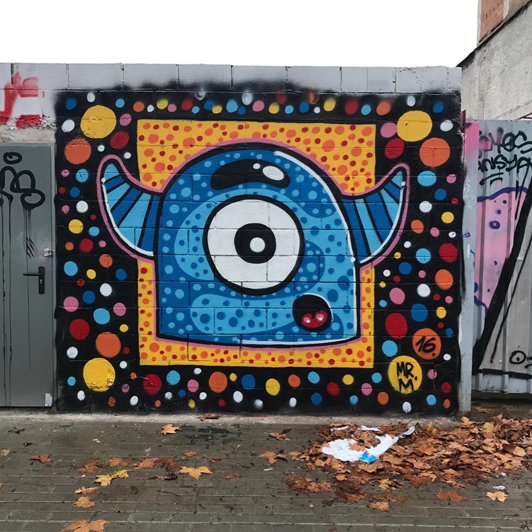 Wallspot - Mr.M - Poble Nou - Mr.M - Barcelona - Poble Nou - Graffity - Legal Walls - Il·lustració
