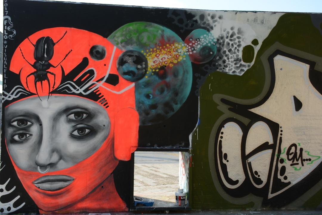 Wallspot - Lluís Olivé - P3X - Barcelona - Tres Xemeneies - Graffity - Legal Walls - Illustration - Artist - filo aka visualflip