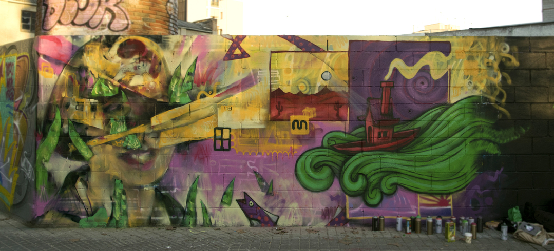 Wallspot - PESK - Poble Nou - PESK - Barcelona - Poble Nou - Graffity - Legal Walls - Illustration, Others