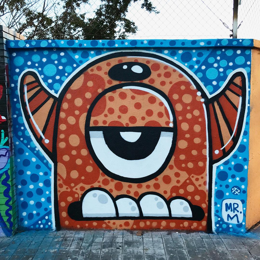 Wallspot - Mr.M - Agricultura - Mr.M - Barcelona - Agricultura - Graffity - Legal Walls - Il·lustració