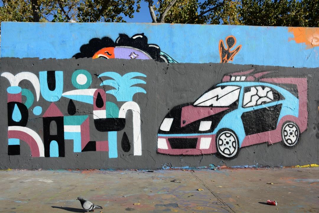 Wallspot - Lluís Olivé - Nacho Eterno a la P3X - Barcelona - Tres Xemeneies - Graffity - Legal Walls - Illustration