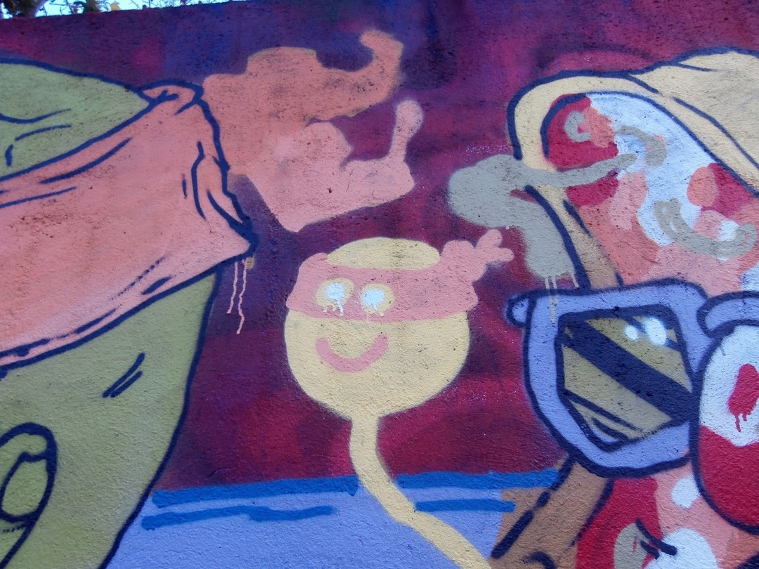 Wallspot - El Rughi - UE Sant Andreu - rughi - Barcelona - UE Sant Andreu - Graffity - Legal Walls - Lletres, Il·lustració