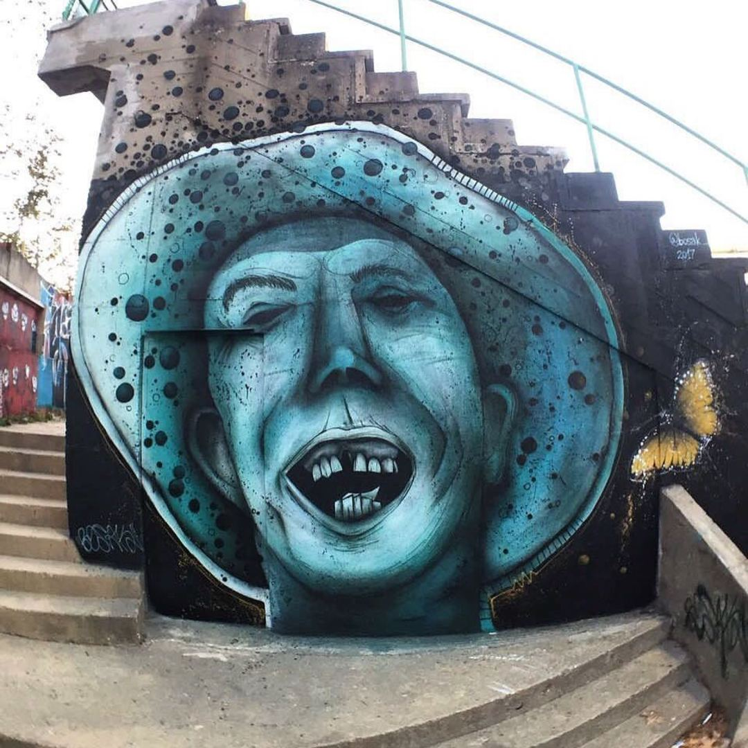 Wallspot - BOSAK - BOSAK - UE Sant Andreu - Barcelona - UE Sant Andreu - Graffity - Legal Walls - Illustration