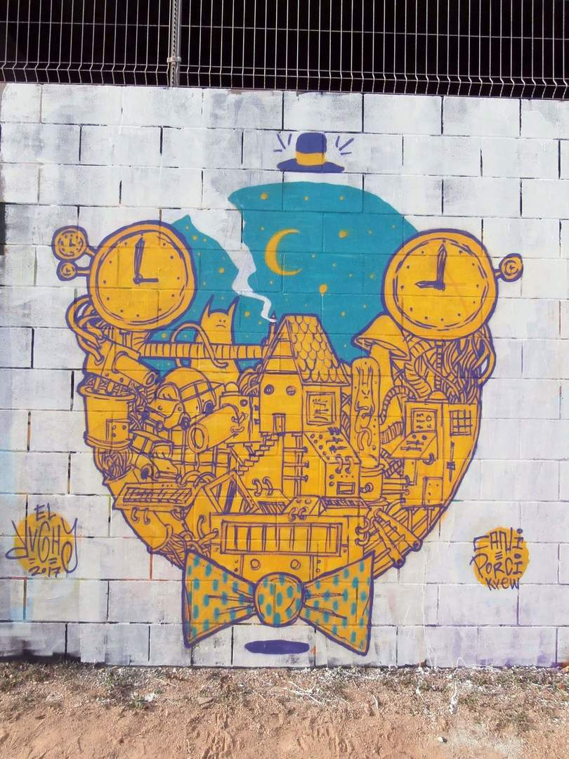 Wallspot - El Rughi - Forum Place - rughi - Barcelona - Forum Place - Graffity - Legal Walls - Illustration