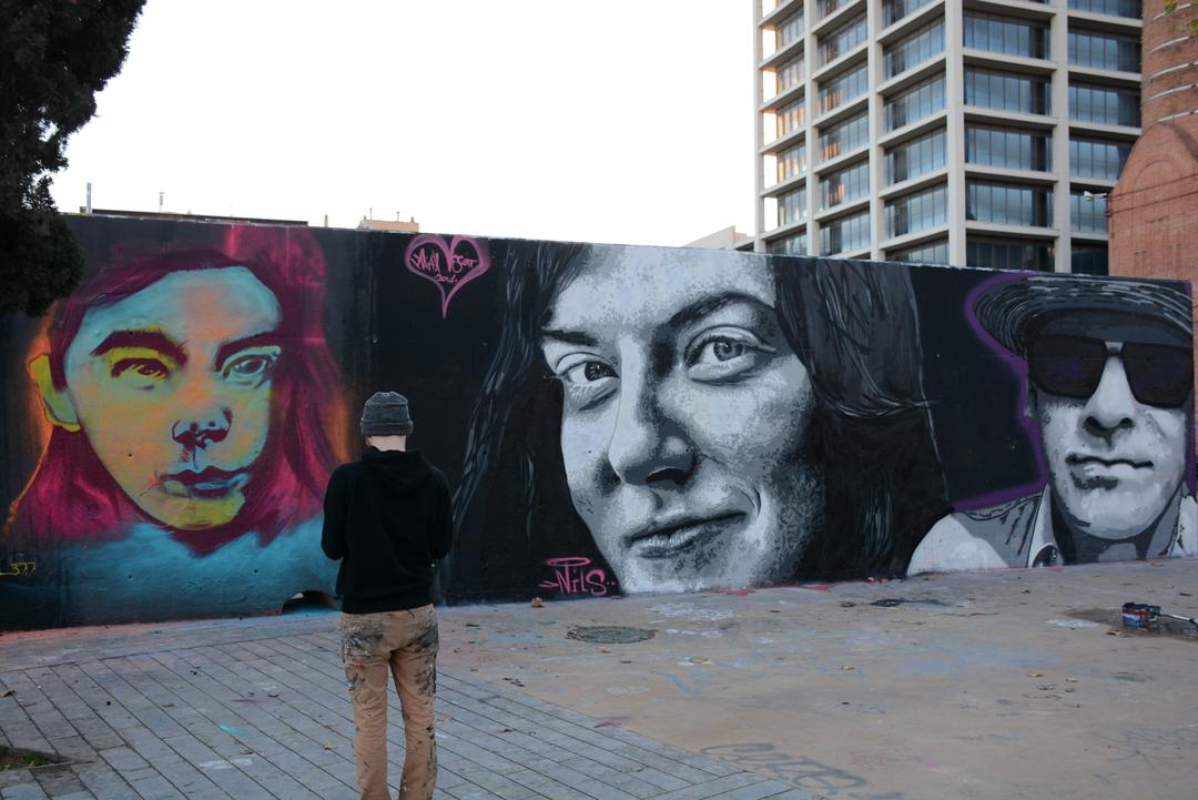 Wallspot - Lluís Olivé - BEROL 377 & NILS WESTERGARD & IVES ONE A LA P3X - Barcelona - Tres Xemeneies - Graffity - Legal Walls - Illustration