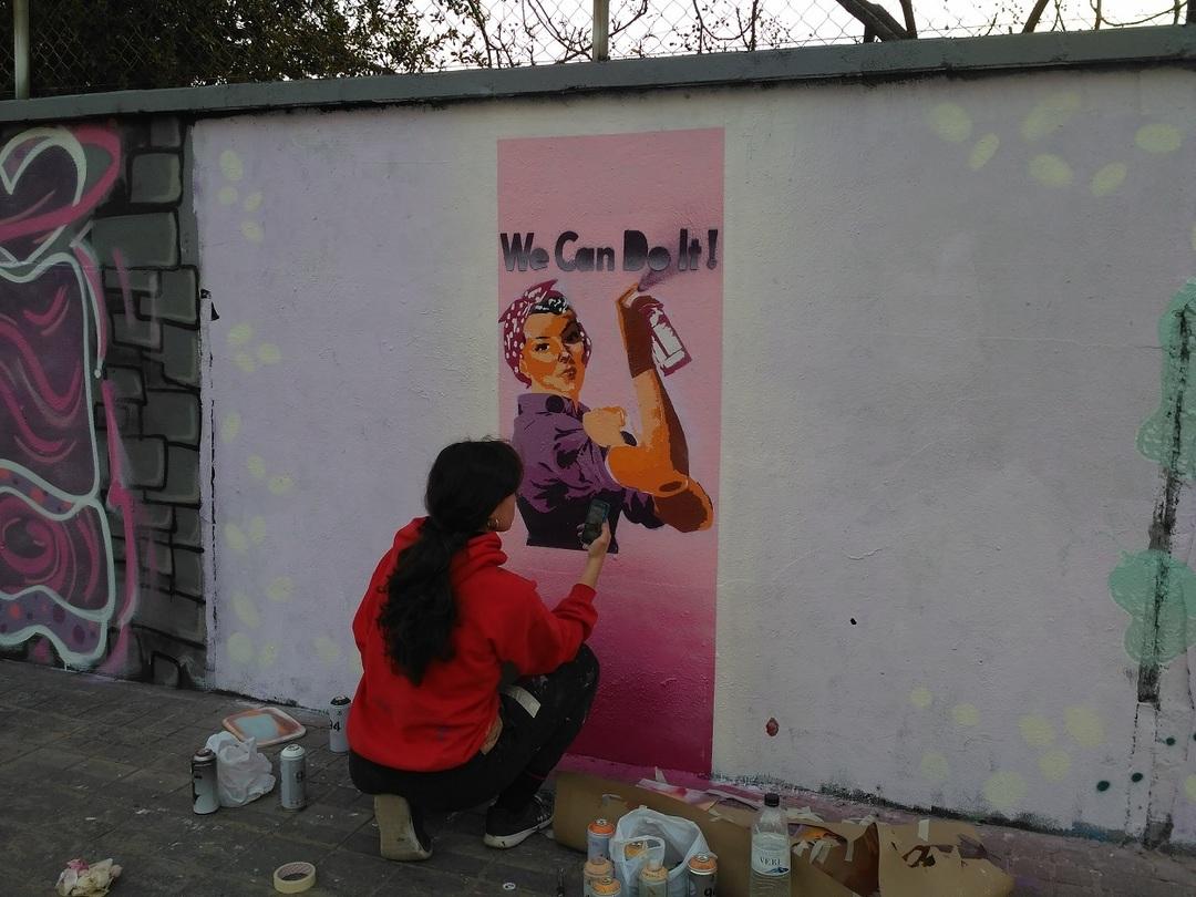 Wallspot - evalop - Les murs des femmes - Barcelona - Agricultura - Graffity - Legal Walls - Ilustración - Artist - LaCastillo