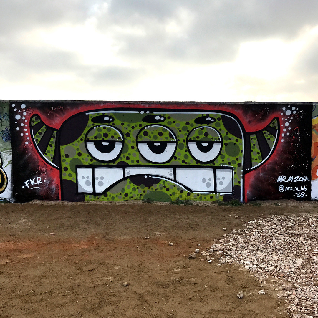 Wallspot - Mr.M - Forum beach - Mr.M - Barcelona - Forum beach - Graffity - Legal Walls -