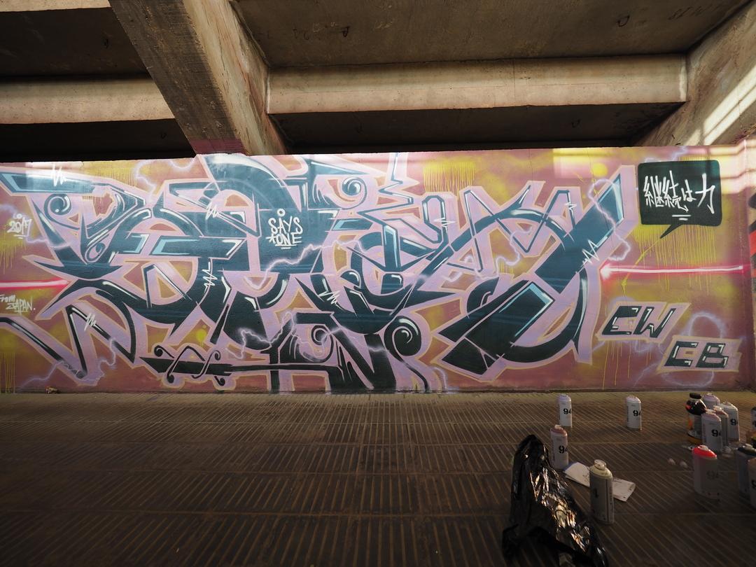 Wallspot - SAYS - UE Sant Andreu - SAYS - Barcelona - UE Sant Andreu - Graffity - Legal Walls -