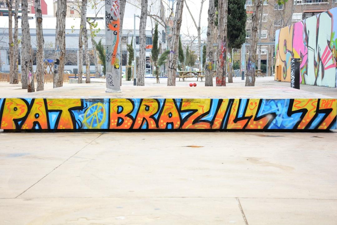 Wallspot - Lluís Olivé - PAT BRAZILL - Barcelona - Tres Xemeneies - Graffity - Legal Walls - Letters - Artist - Pat Brazil