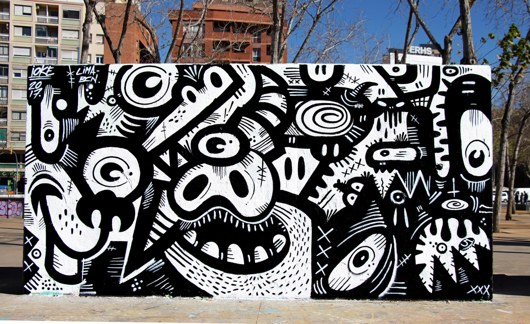 Wallspot - ioke - ioke 2017  - Barcelona - Tres Xemeneies - Graffity - Legal Walls -