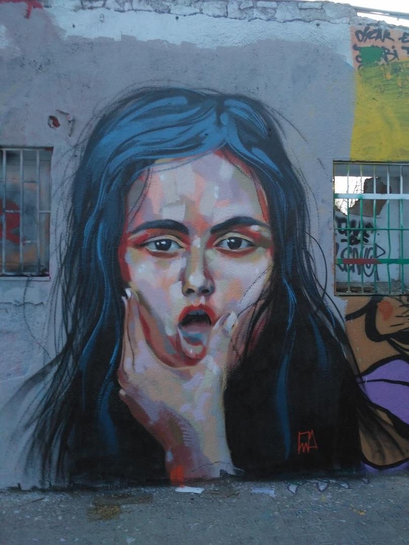 Wallspot - evalop - evalop - Proyecto 09/03/2017 - Barcelona - Western Town - Graffity - Legal Walls - Il·lustració - Artist - elmanu