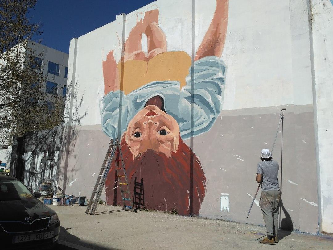 Wallspot - evalop - evalop - Projecte 17/03/2017 - Barcelona - Agricultura - Graffity - Legal Walls - Il·lustració - Artist - elmanu