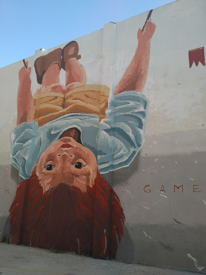 Wallspot - evalop - El niño del columpio - Barcelona - Agricultura - Graffity - Legal Walls - Il·lustració - Artist - elmanu